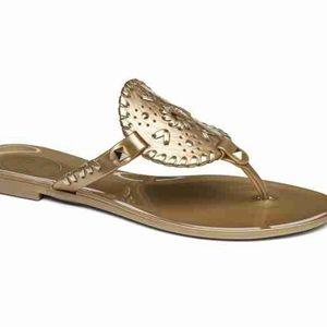 Jacks Rogers Gold Jelly Sandal